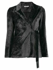 Circolo 1901 tie waist velvet blazer - Grey