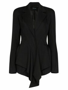 Mugler draped fitted blazer - Black