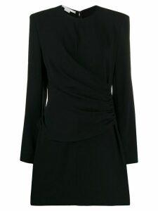 Stella McCartney gathered-panel fitted mini-dress - Black