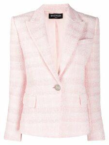 Balmain fitted textured blazer - Pink