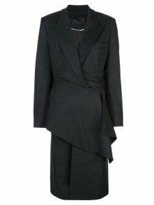 Proenza Schouler checked draped coat - Blue