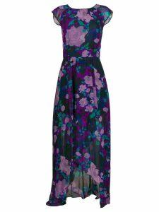 LIU JO floral print asymmetric dress - PURPLE