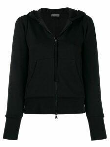 Moncler hooded zip-up jacket - Black