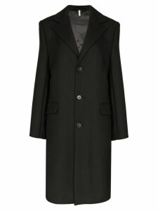 Sunflower long line single breasted coat - Black