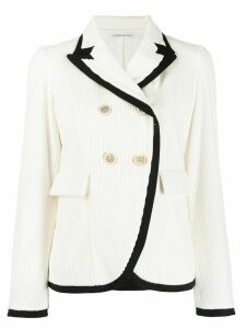Stefano Mortari two-tone double-breasted blazer - White