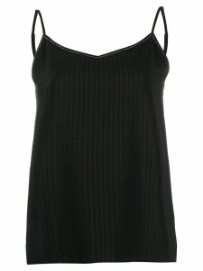 Fabiana Filippi loose-fit ribbed top - Black