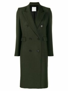Sandro Paris double breasted midi coat - Green