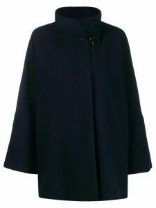 Fay draped wool blend coat - Blue