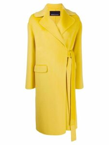 Ermanno Ermanno wrap front coat - Yellow
