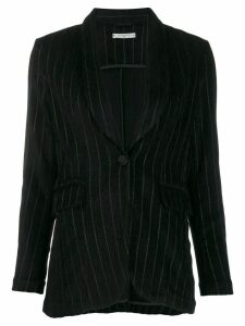 Circolo 1901 single breasted striped blazer - Black