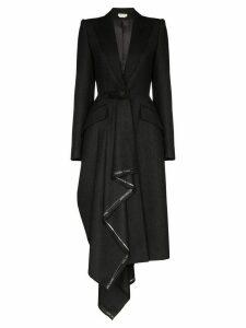 Alexander McQueen draped wool coat - Grey