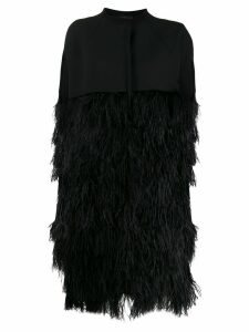 Gianluca Capannolo feather coat - Black