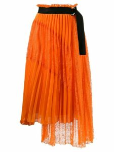 Ermanno Ermanno pleated asymmetric skirt - Orange