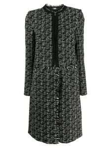 Karl Lagerfeld Transformer bouclé coat - Black