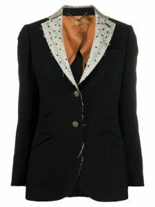 Maurizio Miri Michelle contrast lapel blazer - Black