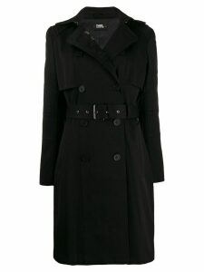 Karl Lagerfeld belted trench coat - Black
