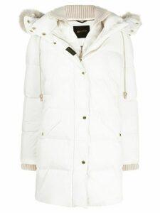 Moorer padded layered coat - White