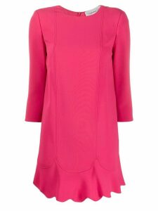 Elisabetta Franchi scalloped hem shift dress - Pink