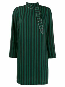 LIU JO striped print dress - Green