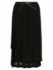 Loewe pleated mid-length skirt - Black