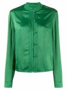 Raquel Allegra button-down long-sleeve blouse - Green