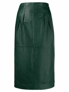 PS Paul Smith pleated pencil skirt - Green