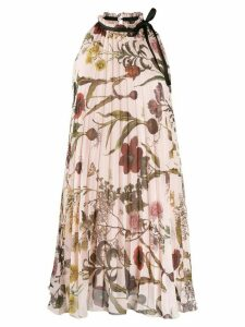 Ermanno Ermanno pleated floral print dress - Pink