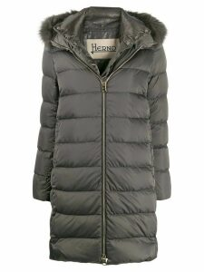 Herno fur trimmed padded coat - Grey