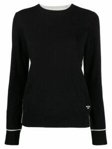 Tory Burch cashmere fitted jumper - Black