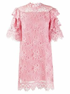 Vivetta frilled crochet short dress - PINK