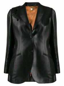 Maurizio Miri textured single breasted blazer - Black
