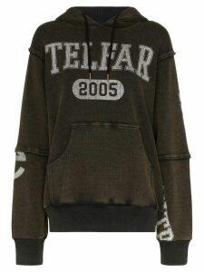 Telfar oversized logo print hoodie - Black