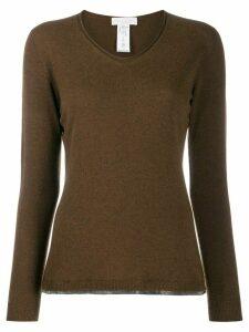 Fabiana Filippi round neck knit sweater - Brown