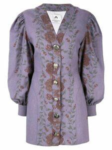 Marine Serre floral print mini dress - Purple