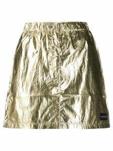 Calvin Klein Jeans ruched waist skirt - Gold