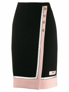 Elisabetta Franchi wrap-around pencil skirt - Black
