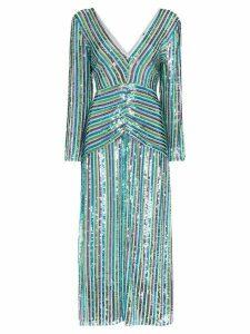 Rixo Emmy sequinned midi dress - Blue