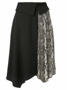 Guild Prime snake print-panelled skirt - Black