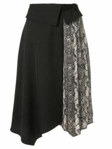 Guild Prime snake print-panelled skirt - Black