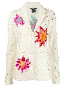 Avant Toi foil embellished printed blazer - Neutrals