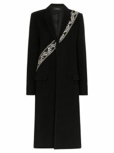 Amiri embellished long coat - Black