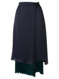 Loveless pleated layered skirt - Blue