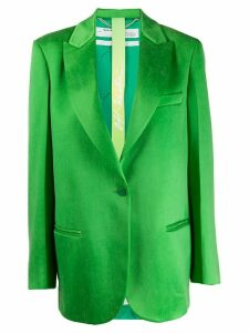 Off-White oversized single-breasted blazer - Green