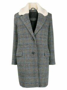 Levi's combined check-print blazer - Grey