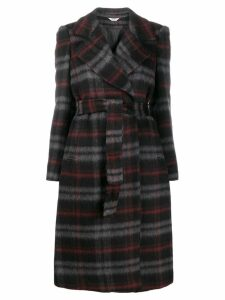 LIU JO checked belted trench coat - Black