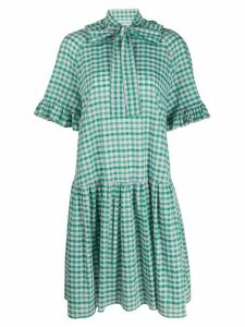 Sofie Sol Studio check-print ruffled dress - Green