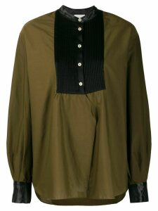 Forte Forte ribbed bib My Shirt - Green
