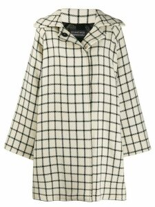 Gianluca Capannolo check pattern oversized coat - White