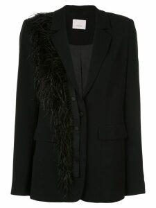 Cinq A Sept Portia fringed blazer - Black