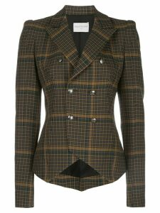 Valentina Shah Amanda check print blazer - Multicolour